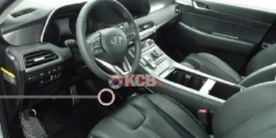 Фотошпионы показали интерьер кроссовера Hyundai Palisade