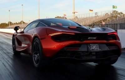 Суперкар McLaren 720S продемонстрировал мощнейший разгон